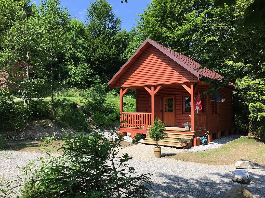 Camping Allgaeu - Ferienhaus - Waldbad Isny - 1412